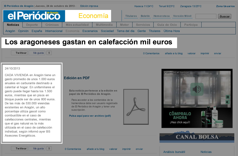 Los aragoneses gastan en calefacción mil euros – Economía – El Periódico de Aragón-1