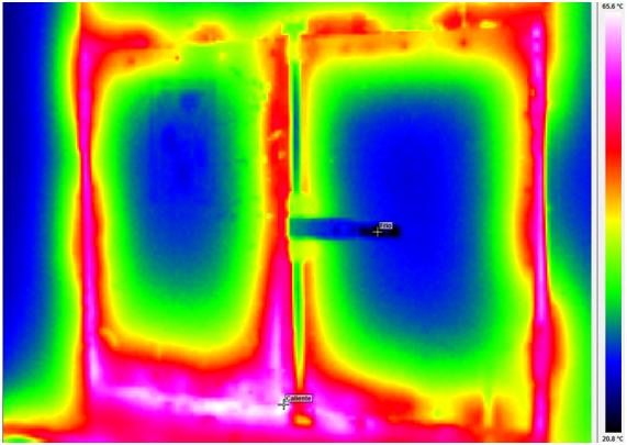 Imagen termográfica de una estufa